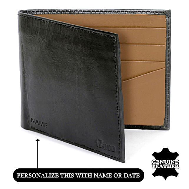 Men's Bi-Fold Black & Chestnut Wallet: Handbags and Wallets Gifts