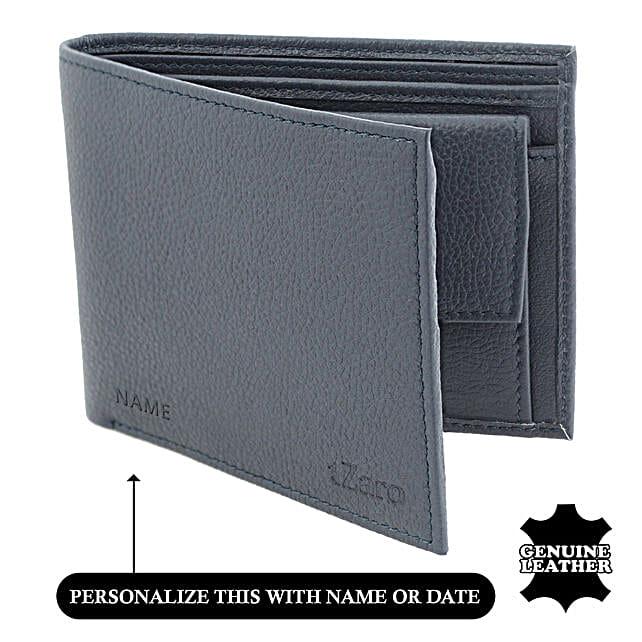 Men's Bi-Fold Navy Blue Wallet: