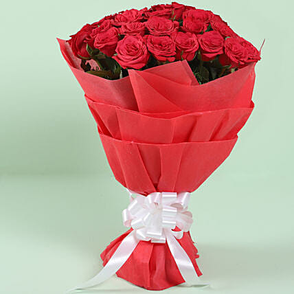 Graceful Red Roses Bouquet: