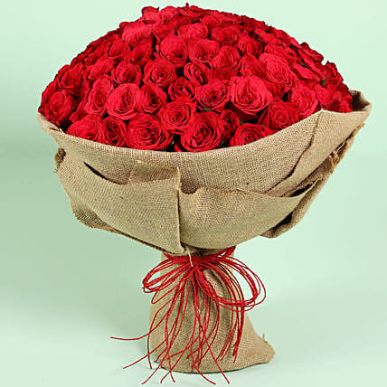 Majestic Gesture 100 Red Roses: Red Flowers