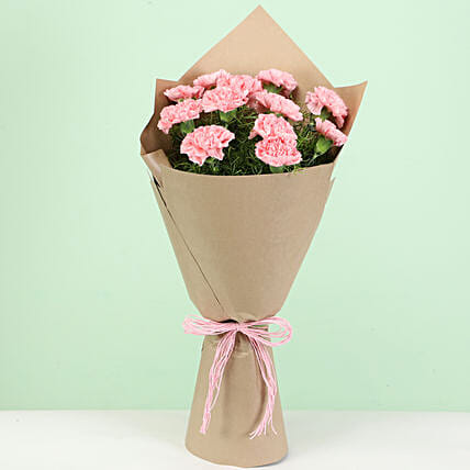 Perfect Light Pink Carnations Bouquet: Carnations