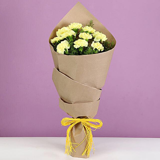 Sunrise Carnations Bouquet: