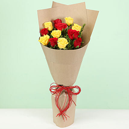 Zestful Bouquet Of Roses: Mixed Roses