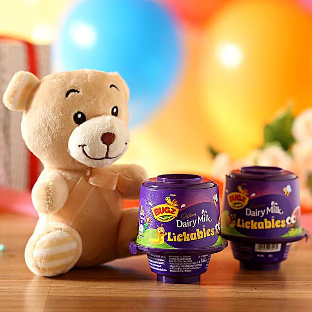 Adorable Teddy Bear & Cadbury Lickables: Cadbury Chocolates