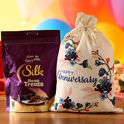 Anniversary Wishes Silk Treats: Cadbury Chocolates