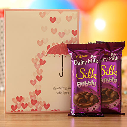 Love Umbrella Chocolaty Combo: Cadbury Chocolates