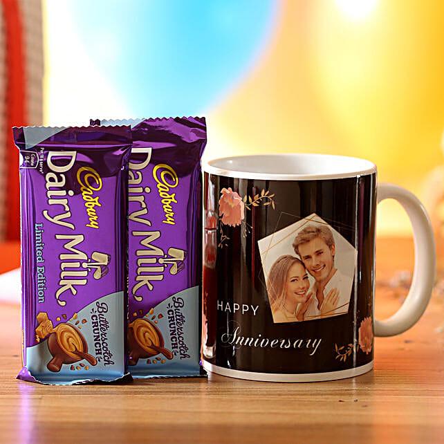 Personalised Anniversary Wishes Mug & Chocolates: Chocolate Combos