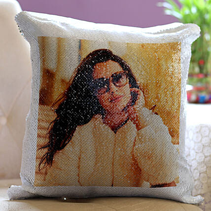 Personalised Magical Sequin Cushion For Her: Best Gifts to India