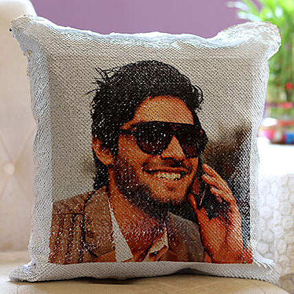 Personalised Magical Sequin Cushion For Him: Cushions