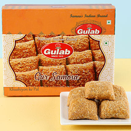 Gur Samosa Box: Sweets Delivery