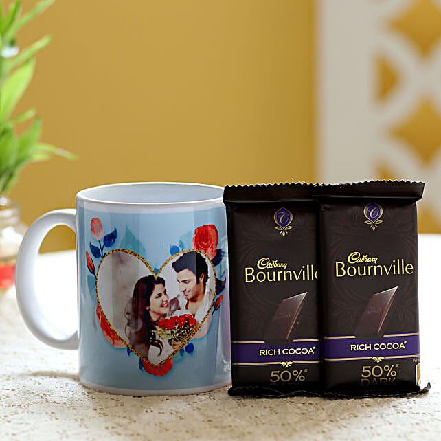 Personalised Mug & Bournville Dark Chocolates: Buy Coffee Mugs