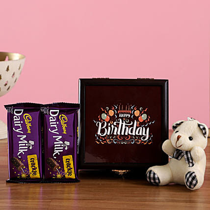 Dairy Milk Crackle Birthday Box: Gift Combos