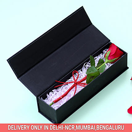 Scarlet Red Rose: Flowers In box