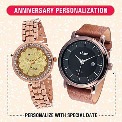 Personalised His & Her Watch Combo: Mens Watches