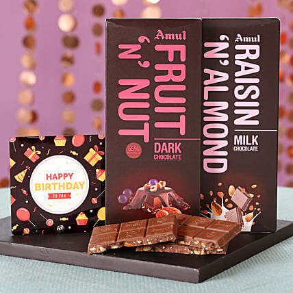 Nutty Amul Chocolates For Birthday: Chocolate Gifts in India