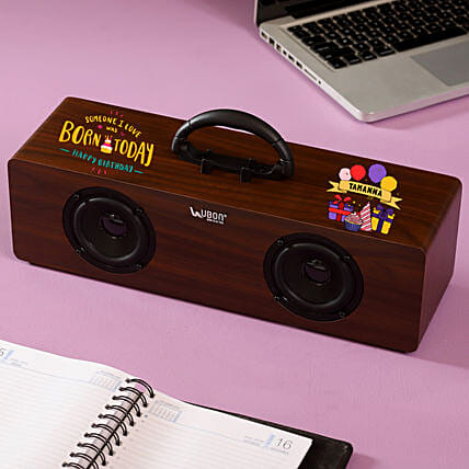 Personalised Dual Bluetooth Speaker: Personalised Gadgets