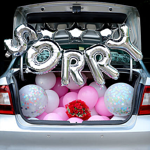 Starry Sorry- Car Trunk Decor: Balloon Decoration Ideas