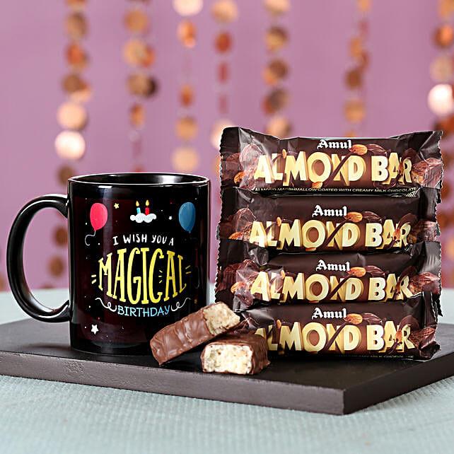 Amul Almond Bars & Birthday Mug: Gifts to Jorhat