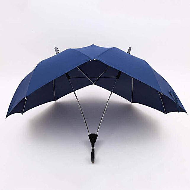 Dual Umbrella- Blue: Unusual Gifts