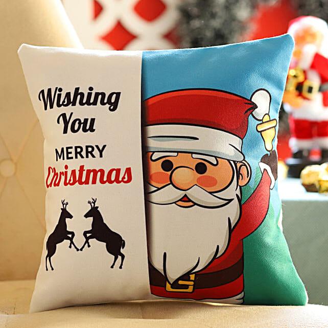Santa Christmas Wishes Cushion: Christmas All Gifts