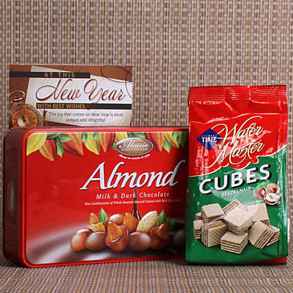 New Year Wishes With Delicious Treats: New Year Gift Hampers