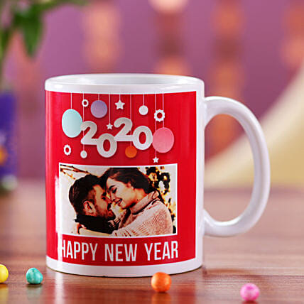Personalised 2020 New Year Red Mug: New Year All Gifts