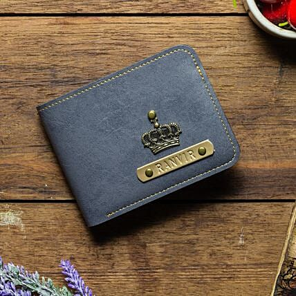 Personalised Grey Mens Wallet: Handbags and Wallets Gifts