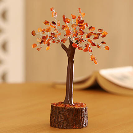 "Carnelian Gemstone Wishing Tree 7.5"": Christmas Tree"