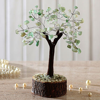 "Green Calcite Gemstone Wishing Tree 7.5"": Wish Trees"
