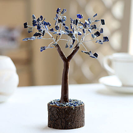 "Lapis Lazuili Gemstone Wishing Tree 7.5"": Wish Trees"