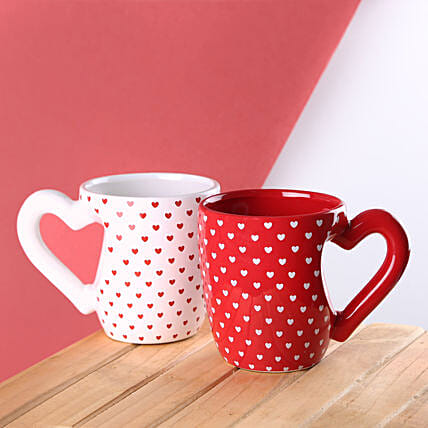 White Heart Handle 3D Mug: Unusual Gifts