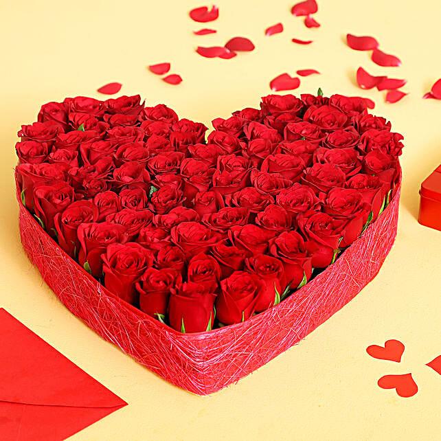 Lovely Heart Shaped Roses Arrangement: Heart Shaped Flowers