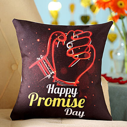 Promise Day Holding Hands Printed Cushion: Gifts for Promise Day