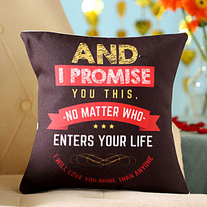 Promise To Love You Cushion: Send Promise Day Gifts