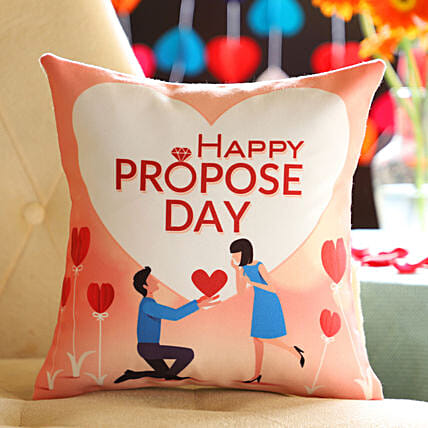 Proposing Her Printed Cushion: Gifts for Propose Day