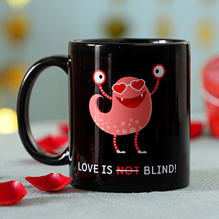 Quirky Love Is Blind Mug: Coffee Mugs
