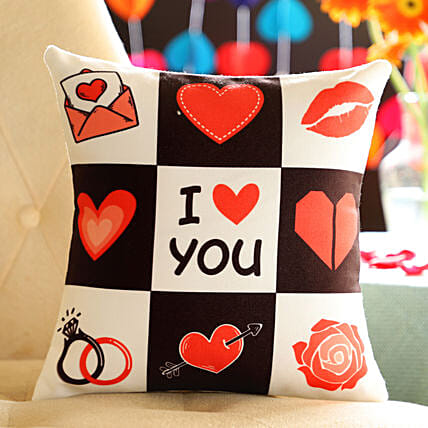 I Love You Cushion: Cushions