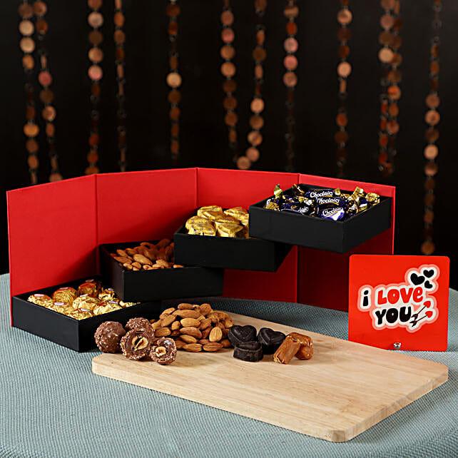 Table Top & Chocolates Combo: Ferrero Rocher Chocolates