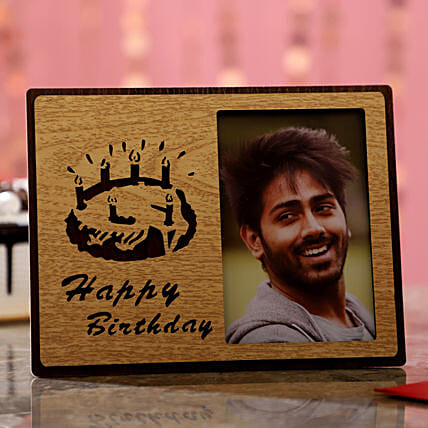 Birthday Greetings For Him Photo Frame: Personalised Photo Frames Gifts
