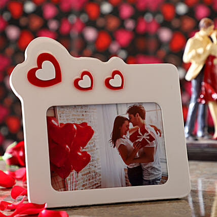 Floating Hearts Personalised Photo Frame: Personalised Photo Frames