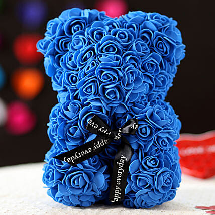 Foam Teddy Bear- Blue: Gifts for Teddy Day