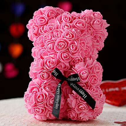 Foam Teddy Bear- Pink: Gifts for Teddy Day
