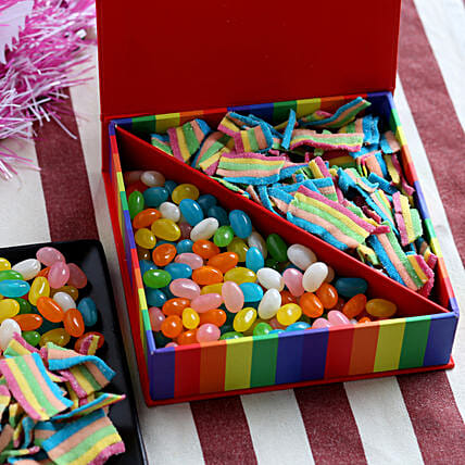 Delicious Candy Box- 200 gms: Send Gifts to Rupnagar
