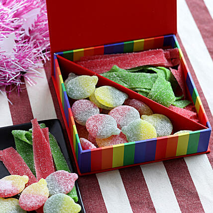Fruity Candy Box- 200 gms: Send Gifts to Rupnagar