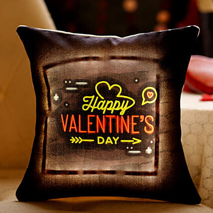 Valentine's Greetings LED Cushion: Valentines Day Cushions