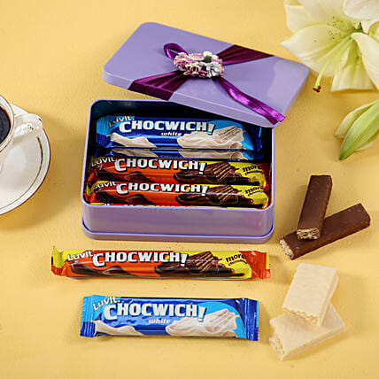 Delectable LuvIt Chocwich In Tin Box: Chocolate Gifts in India
