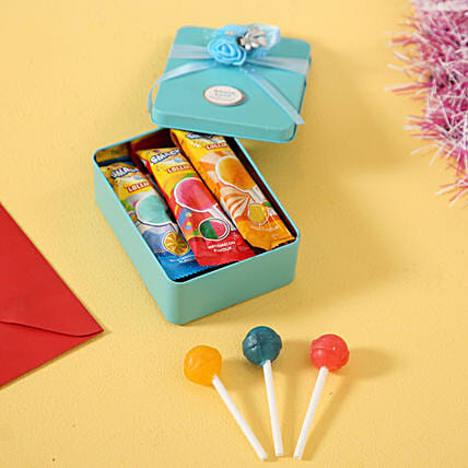 LuvIt Lollipops In Tin Box: Good Luck Gifts