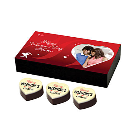 Personalised Chocolates Box For Valentine's: Valentine Personalised Chocolates
