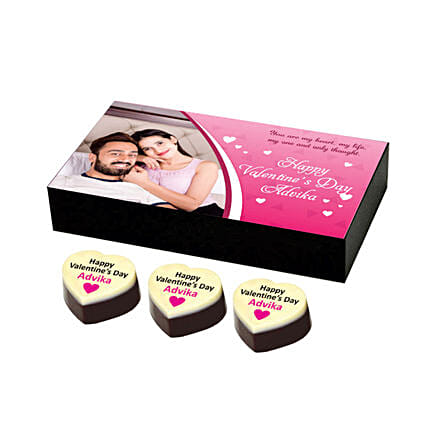 Personalised Valentine's Chocolates: Valentine Personalised Chocolates