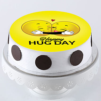 Hug Day Photo Cake: Hug Day Gifts